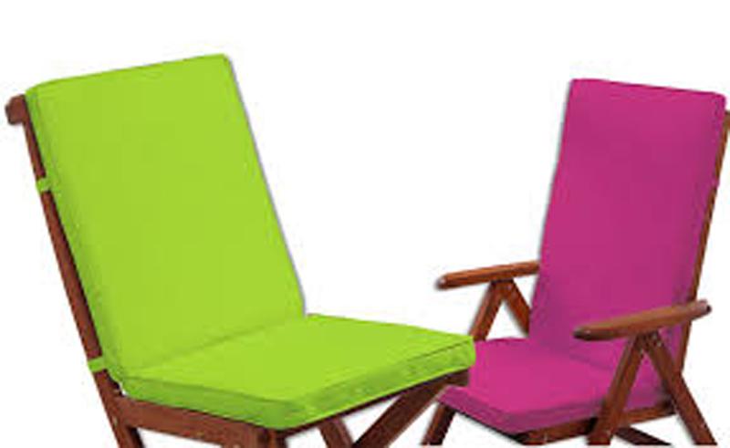 Cojines con respaldo para sillas de terraza cheap silla - Cojines para silla ...