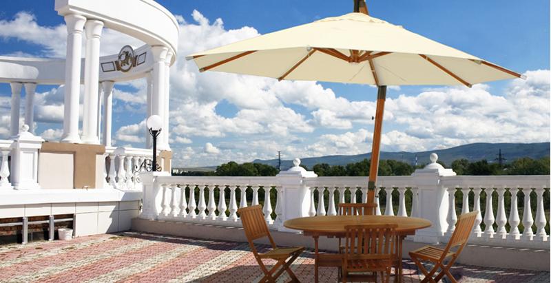 Parasoles de madera toldos taial - Sombrilla de terraza ...